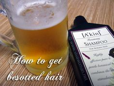 Use beer to add body to hair.   Interesting.