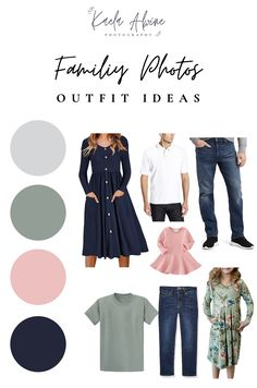 Navy Family Pictures, Fall Family Picture Outfits, Family Picture Colors, Family Portrait Outfits, Family Photos What To Wear, Large Family Photos, Summer Family Photos, Family Outfits, Family Pics