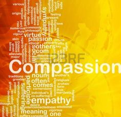 Background concept wordcloud illustration of compassion international photo