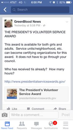 Presidential Volunteer Award