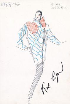 A sketch for Fendi by Karl Lagerfeld. [Courtesy Sketch]