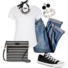 """""""Black and White"""" by heather767 on Polyvore"""