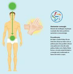 Partilhar Através da meditação, respiração e posição das mãos, podemos aumentar a nossa energia. Sem dúvida que podemos usar Reiki para aumentar a energia vital usando técnicas como a meditação ...