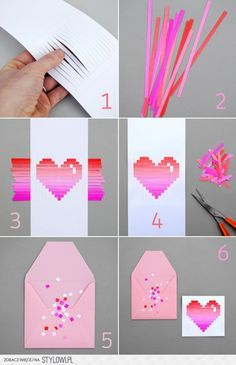 Ideas diy paper origami pictures for 2019 Kids Crafts, Diy Arts And Crafts, Diy Craft Projects, Origami Paper Art, Diy Paper, Valentine Day Cards, Valentine Crafts, Saint Valentin Diy, Valentines Bricolage