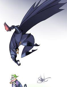 Batman and The Joker by Otto Schmidt ottoschmidt Batman Dark, Im Batman, Superman, Batman Stuff, Otto Schmidt, Comic Book Artists, Comic Books, Thor, Dc Comics