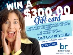 BetterRide is  giving away $ 300.00 amazon gift card to celebrate its upcoming launch in NYC (08/16/2016).  Win yours.  Betterride is the future…