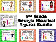 2nd Grade Georgia Historical Figures Bundle Unit --- Worksheets for Figures!!!