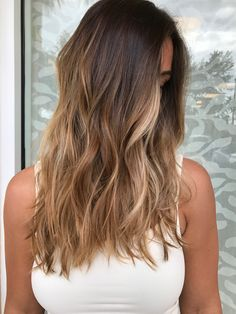 Honey golden balayage
