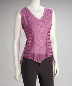 Take a look at this Purple Sleeveless Top by Papillon Imports on #zulily today!