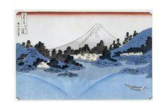 Mount Fuji Reflected in Lake Misaica, from the Series '36 Views of Mount Fuji' ('Fugaku… Giclee Print by Katsushika Hokusai - at AllPosters.com.au