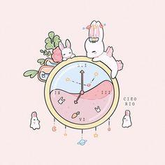 Cute Pastel Wallpaper, Kawaii Wallpaper, Wallpaper Iphone Cute, Cute Animal Drawings Kawaii, Kawaii Art, Cute Drawings, Stickers Kawaii, Cute Stickers, Pretty Art