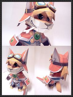 Solatorobo: Red the Hunter - Red Savarin Ver.2 Free Papercraft Download - http://www.papercraftsquare.com/solatorobo-red-hunter-red-savarin-ver-2-free-papercraft-download.html