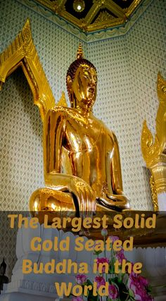 The largest solid gold seated Buddha in the world! Wat Traimit, This is the Temple of the Golden Buddha and is located in Chinatown. It is the largest, solid gold seated Buddha in the World measuring nearly five meters high and weighing five and a half tons. Read the full travel blog post at http://www.divergenttravelers.com/3-days-in-bangkok-things-you-shouldnt-miss/