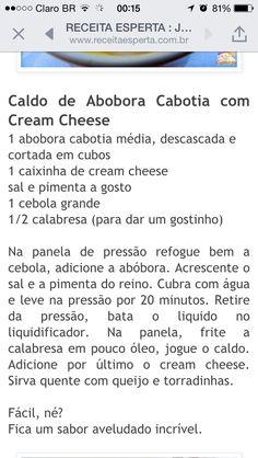 Caldo abóbora com cream cheese