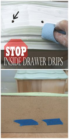 The EASIEST way to stop inside drawer drips!