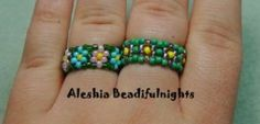 Daisy Chain Stitch Beaded Ring Tutorial by Beadifulnights ~ spent so many hours making the daisy chain necklaces, bracelets and rings from seed beads.