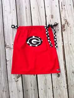 Custom boutique red UGA bulldogs or favorite by EverythingSorella, $36.50