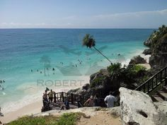 Tulum, Riviera Maya in Mexico - one of the last remaining Mayan sites where you can also swim from!