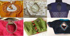 Top Stylish Blouse Back Neck Designs You Should Check Blouse Back Neck Designs, Cotton Saree Blouse Designs, Patch Work Blouse Designs, Blouse Patterns, Golden Blouse Designs, Fancy Blouse Designs, Collar Designs, Sari Design, Woman Clothing