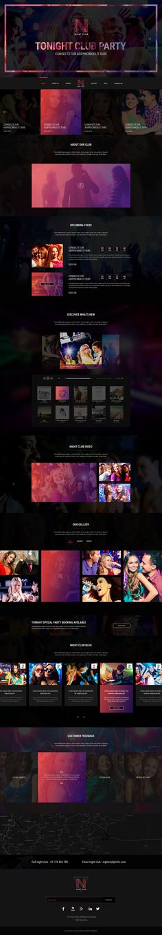 Night Club - Event, DJ, Party, Music Club PSD Template • Download ➝…