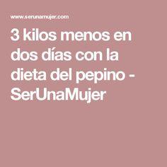 3 kilos menos en dos días con la dieta del pepino - SerUnaMujer