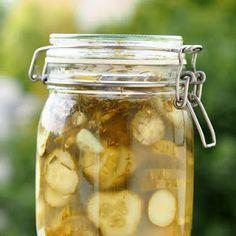 Kiszona sałatka ogórkowa z octem Calzone, Tzatziki, Coleslaw, Preserves, Pickles, Cucumber, Homemade, Recipes, Food