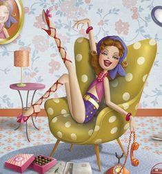 Risultati immagini per ilustraciones nina de san Sassy Wallpaper, Decoupage, Le Weekend, Holly Hobbie, Animation, Woman Drawing, Art Pictures, Cute Art, Illustrations Posters