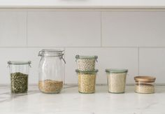 Decanting Grains in Weck Jars Styling Alexa Hotz Photo Matthew Williams