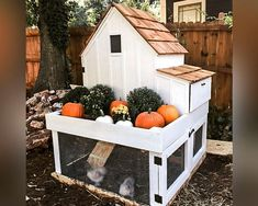 Build your own Small Chicken Coop with Planter. Downloadable PDF format. Instant download.