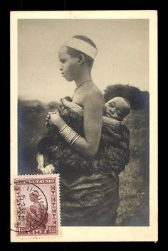 MAXIMUM postcard, Belgium Congo, woman with child