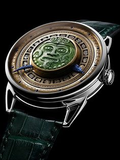 De Bethune has posted on its FB page today a unique DB25 inspired by the Mayan mythology, decorated with Jade stone.