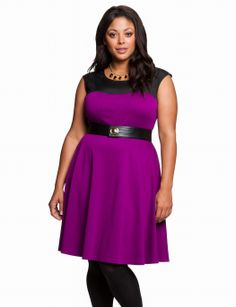 Flutter Colorblock Dress | Plus Size Work & Day Dresses | eloquii by THE LIMITED