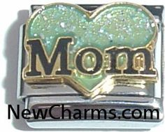 Mom With Green Heart Italian Charm Bracelet Jewelry Link New Charms. $1.99. High quality Italian Charm.. Standard 9mm size.. Compatible with all major brands of Italian Charms.. Combine with other Italian Charms to show your style.