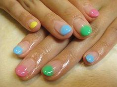 pastel nail tips