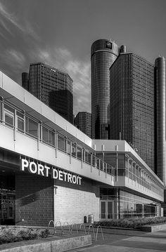 the new Port Detroit between the Ren Cen and Hart Plaza