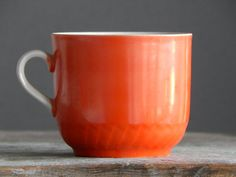 Jahrgang sowjetischen Red Becher Keramik Kaffee Tee Tasse rot sowjetischer Bauart USSR Ära 1970 s. russische Geschirr