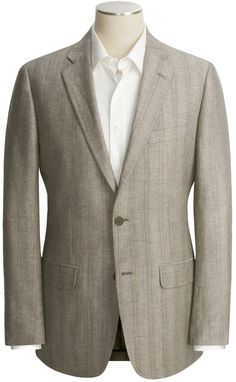 $125, Tan Vertical Striped Blazer: John Varvatos Star Usa Stripe Sport Coat Linen Wool. Sold by Sierra Trading Post. Click for more info: http://lookastic.com/men/shop_items/33616/redirect