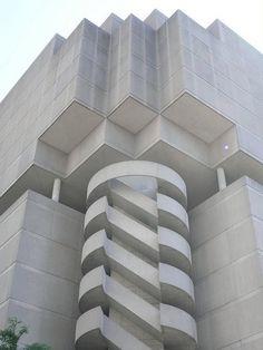 Brutalist Stair Downtown Atlanta