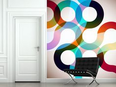 Rainbow Circles Wall Mural | Eazywallz