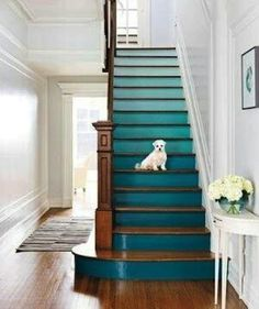 teal stairs...