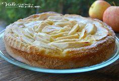 Crostata di mele con pasta frolla alla ricotta, golosa gustosa ma anche leggera, un dolce buono semplice e genuino senza rinunciare al gusto