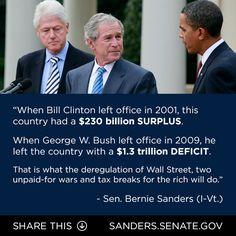 Thanks Bush, too bad everyone blames your mess on President Obama