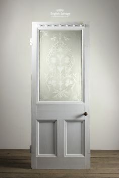 Reclaimed Single Panel Etch/Glazed Front Door