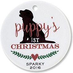 puppys 1st christmas personalized round ornament by lillian vernon dog christmas giftschristmas