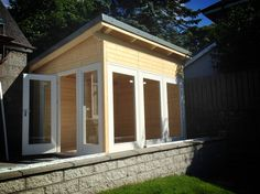 Custom designed CaraEasy cabin constructed in Aberdeen. More details at http://www.forestlogcabins.com