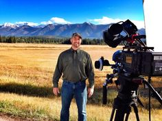 Joe Movick on location somewhere in Montana w/ his Sony PMW-F55 and Sachtler sticks.