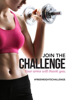 JOIN US for our FREE WEIGHTS CHALLENGE! Click for details.