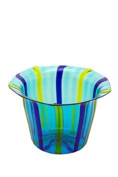 Vintage Murano Glass Filigrane Vase - Blue/Turquoise/Green by Casa Di Francesca on @HauteLook  $99