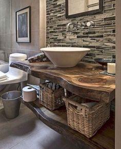 Ideas for small master bathroom decor modern farmhouse Farmhouse Vanity, Modern Farmhouse Bathroom, Modern Bathroom Decor, Bathroom Trends, Bathroom Styling, Bathroom Interior, Small Bathroom, Bathroom Ideas, Brown Bathroom
