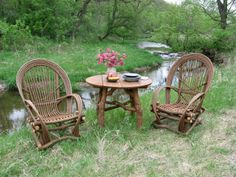 Willow And Twig Furniture | ... Run Woods    Willow Furniture | Driftwood